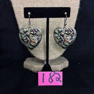 Retired Brighton Silver Heart Earrings
